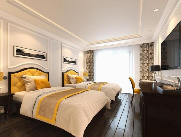 Phòng ngủ tiện ngh, hiện đại của Minh Châu Beach Resort